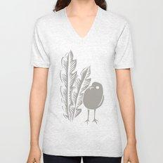 Graphic Bird Unisex V-Neck