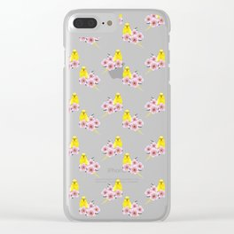 Yellow Budgerigar Clear iPhone Case