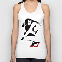 heels Tank Tops featuring Red heels by rbengtsson