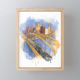 Pittsburgh Fort Pitt and Downtown Framed Mini Art Print