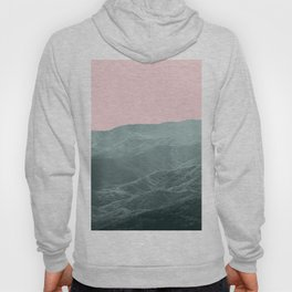Mountains Pink + Green - Nature Photography Hoody