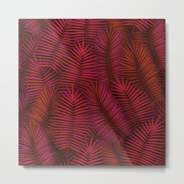 Exotic tropical palm leaves pattern Metal Print