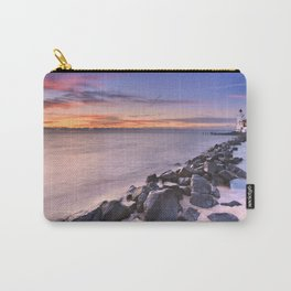 The lighthouse of Marken in The Netherlands at sunrise Carry-All Pouch