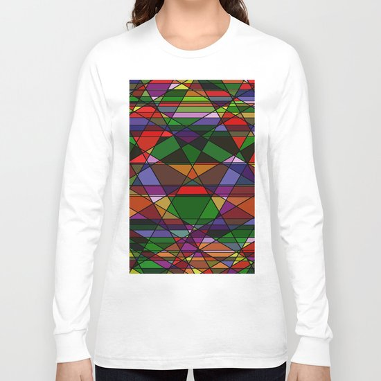 Stain Glass Mosaic Dark Long Sleeve T-shirt