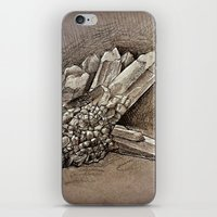 crystals iPhone & iPod Skins featuring Crystals by Werk of Art