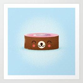 Cute Roll Art Print
