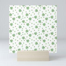 Clover Leaves Seamless Pattern Mini Art Print