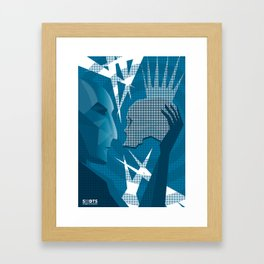 Hamlet and Yorick Framed Art Print
