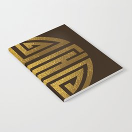 Four blessings Gold Notebook