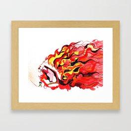 Lion Roar!! Framed Art Print