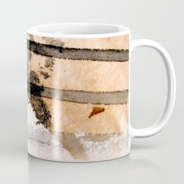Desert Musings - a watercolor and ink abstract in gray, brown, and black Coffee Mug