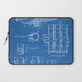 Selmer Trumpet Patent - Trumpet Art - Blueprint Laptop Sleeve