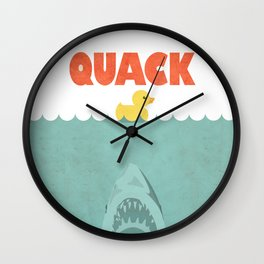 Jaws Rubber Duck Wall Clock