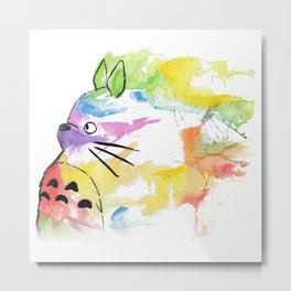 rainbow painting studio ghibli Metal Print