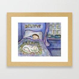 Believe Love is Forever ~ Spirit Cat Pet Art Painting Framed Art Print