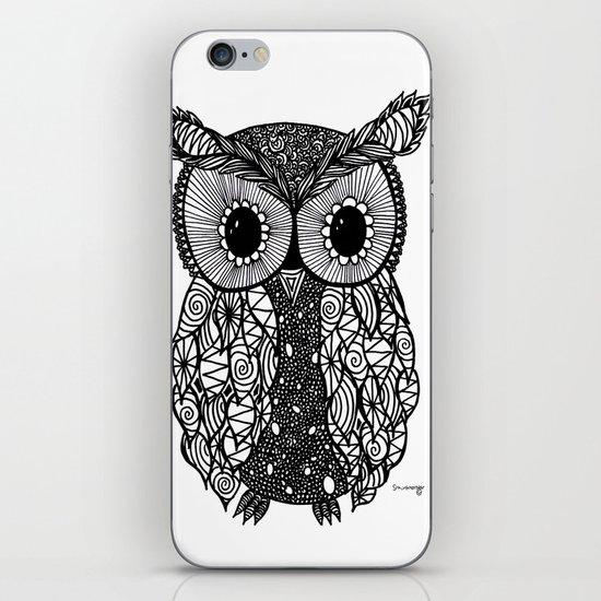 crazy owl iPhone & iPod Skin
