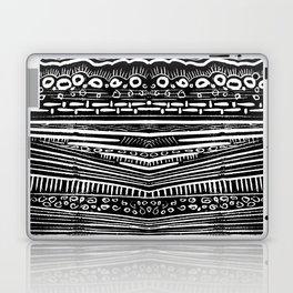 Linocut Tribal Pattern Laptop & iPad Skin