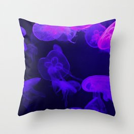 Moon Jellyfish I Throw Pillow
