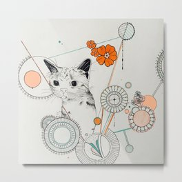 Cat Scammer Metal Print