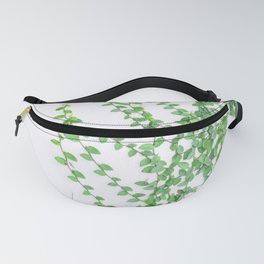 Green creepers climbing the wall Fanny Pack