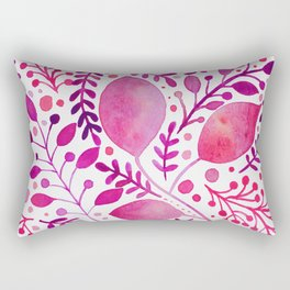 Pink and purple leaves Rectangular Pillow