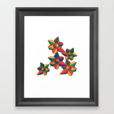 Hexagon Explosion Framed Art Print