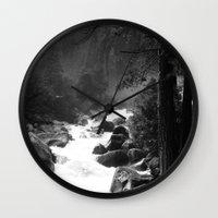yosemite Wall Clocks featuring Whiteout Yosemite-2 by Deepti Munshaw
