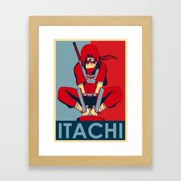 Itachi uchiha hope poster style Framed Art Print