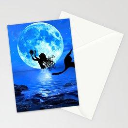 Moonlight Mermaid - Blue Stationery Cards