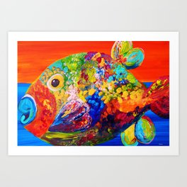 Deviously Dappled Art Print