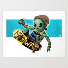Area 51 Skate Park Art Print