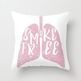 Smoke Free Throw Pillow