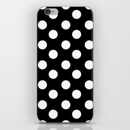 Polka Dot (White & Black Pattern) iPhone Skin