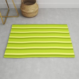 Lime Green Stripes Rug
