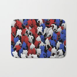Red blue white hockey players Bath Mat