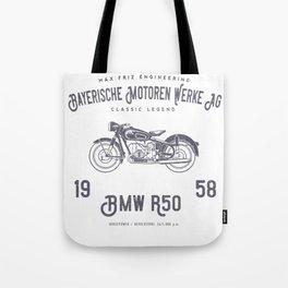 Vintage German Motorcycle T Shirt, 1958 Retro Bikers Model Tote Bag