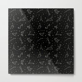 Western Zodiac Constellations Metal Print
