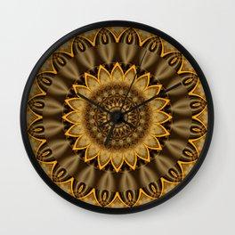Mandala Goldflower Wall Clock