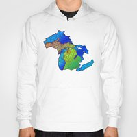 michigan Hoodies featuring Michigan by Dusty Goods