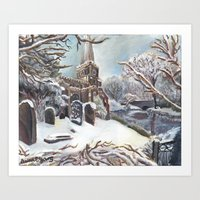 Church in Winter Art Print