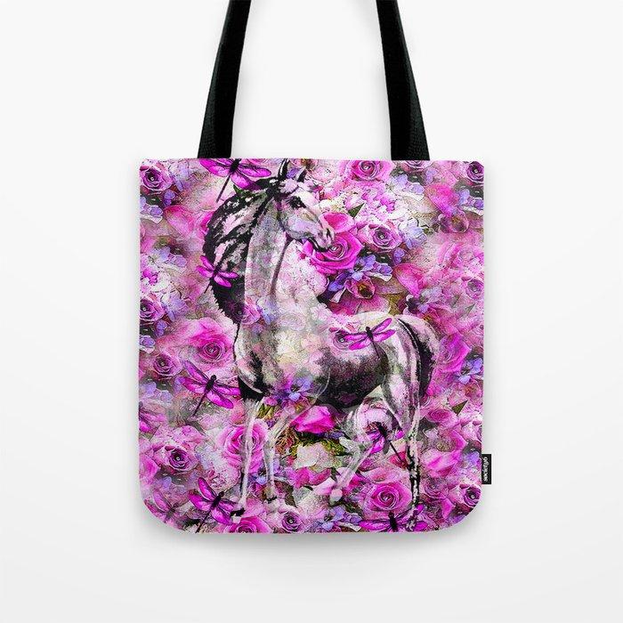 Horse in the Garden Tote Bag