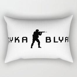 Counter strike Cyka Blyat Rectangular Pillow