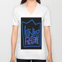 reggae V-neck T-shirts featuring kinky reggae by amy darlene