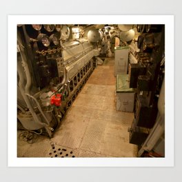 The USS Batfish SS-310 - In the Forward Engine Compartment Art Print