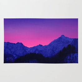 Dawn in Mountains Rug
