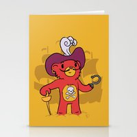 captain hook Stationery Cards featuring Captain Bear Hook by pepemaracas
