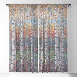 Aspen Fall by OLena Art  Sheer Curtain