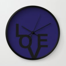 LOVE BLUE Wall Clock