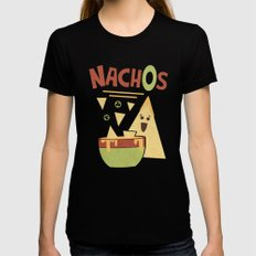 NachOs SMALL Womens Fitted Tee Black