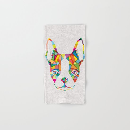 Rainbow Bulldog Hand & Bath Towel